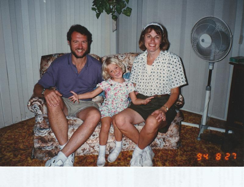 Silvana Clark and her husband with their baby girl.