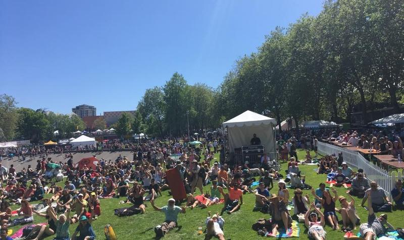 An attractive Folklife crowd as seen from the New Cool stage last year - we'll see you there Saturday!