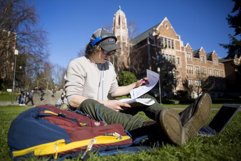 """Michael Troksa, a mechanical engineering major at the University of Washington, said it's important to him to graduate on time. """"Four years means less money paying for college and get out in the field faster, which is what I want to do."""""""