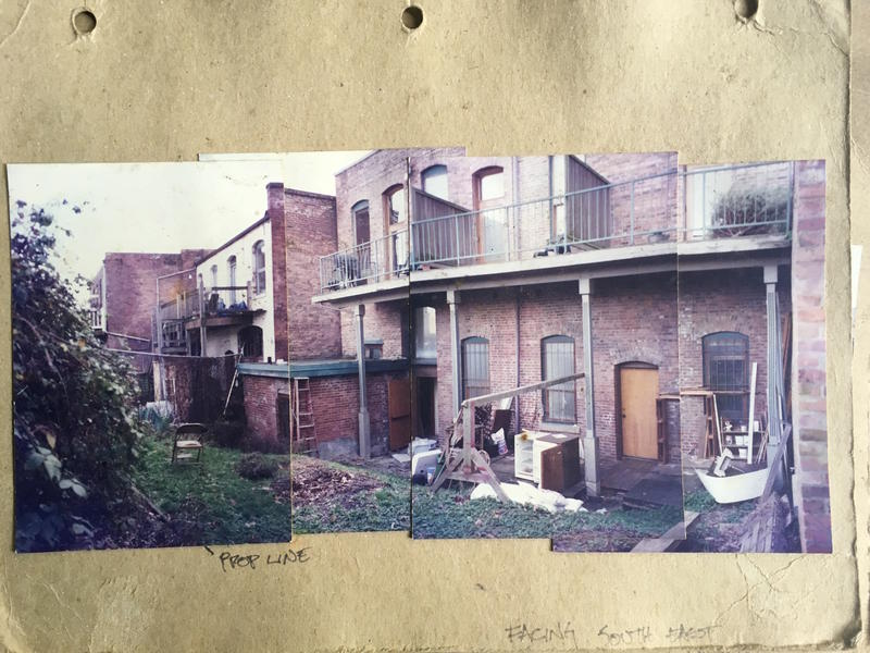 This is what Ruffner's backyard looked like when she moved in, in 1996.