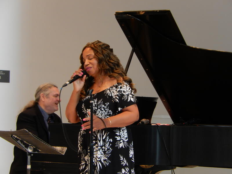 Craig Hoyer and Mercedes Nicole performing at the Seattle Art Museum.