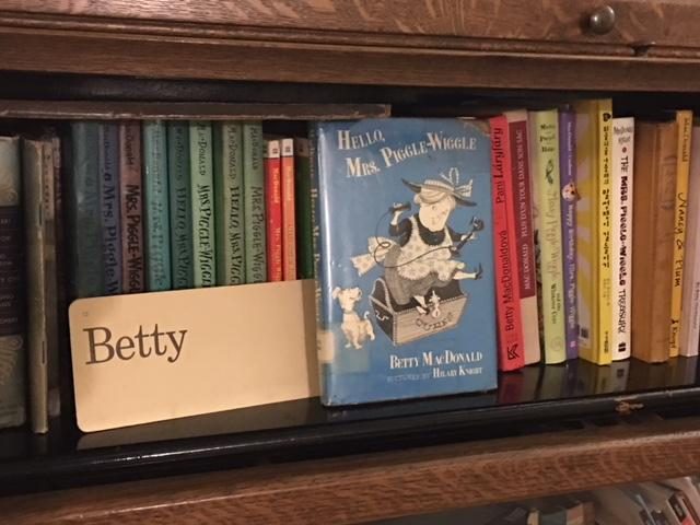 Paula Becker has a whole collection of Mrs. Piggle Wiggle books on her personal bookshelf.