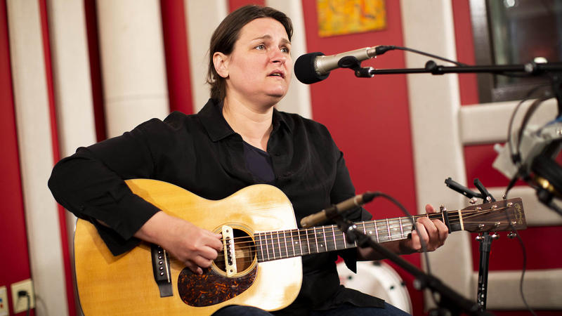 Madeleine Peyroux in the KNKX Studios.