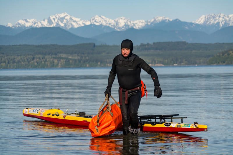 The 64 year-old veteran and cycling coach paddling to Alaska is doing so to raise awareness for his homelessness outreach efforts.
