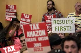 "People fill Seattle City Council chambers during the debate over the ""head tax."""