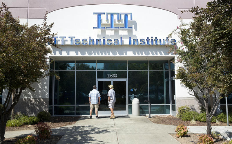 Students found the doors locked at this ITT Technical Institute campus in California closed after the for-profit college announced in 2016 that it was shuting down.