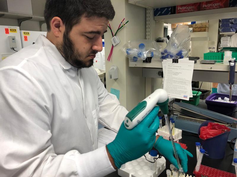 Blaine Alvarez, a biology teacher from Hazen High School in Renton, has been participating in the Science Education Partnership at the Fred Hutchinson Cancer Research Center.