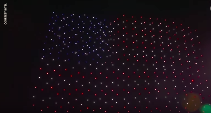 An alternative to fireworks: drones with LED lights, described in this week's conversation with Cliff Mass and on his blog.
