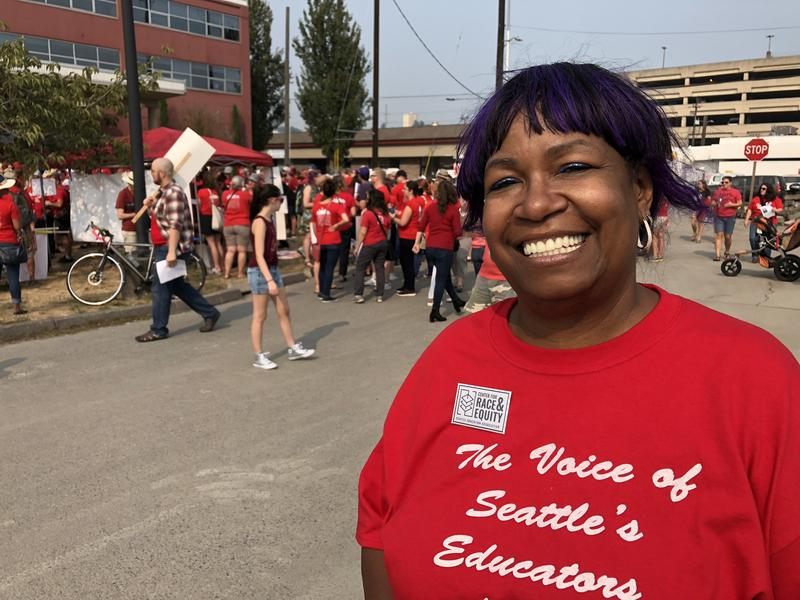 DaZanne Davis Porter is a kindergarten teacher in Seattle. She said she recently moved to Renton because she couldn't afford housing closer to her school.