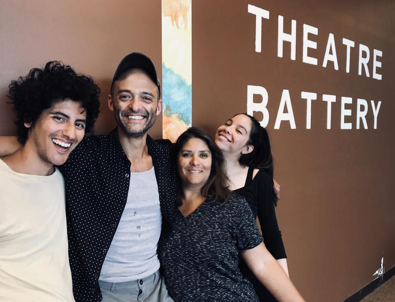 (From left to right): Benjamin Benne, playwright, Brandon J. Simmons, director, Anabel Hovig, actor, and Klarissa Marie Robles, actor