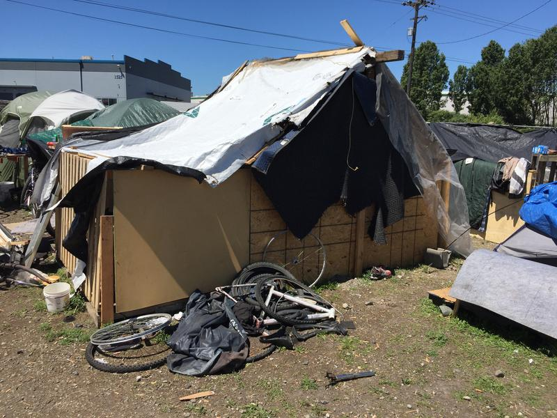 A homeless encampment that existed on Tacoma's tideflats until it was cleared in 2017