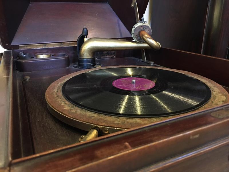 Museum staff can fire up a hand-crank Victrola in the museum' main exhibition space.