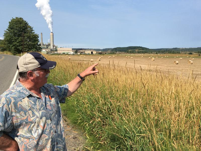 Bob Guenther stands at the site of the future Tono Solar Farm