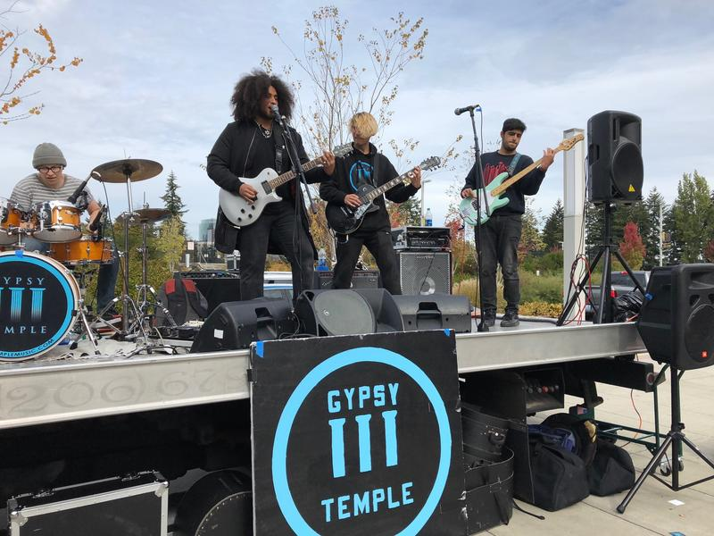 "Gypsy Temple performed on Oct. 3 at Bellevue High School as part of their ""Make  Your Voice Heard Loud"" tour."