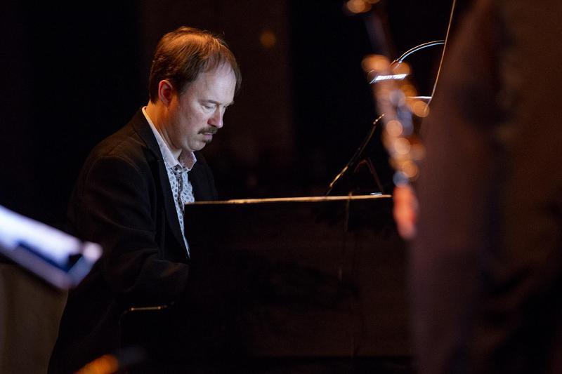 John Hansen on piano.