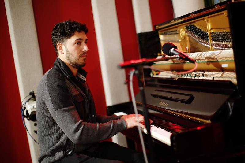 Emmet Cohen in the KNKX Studios.