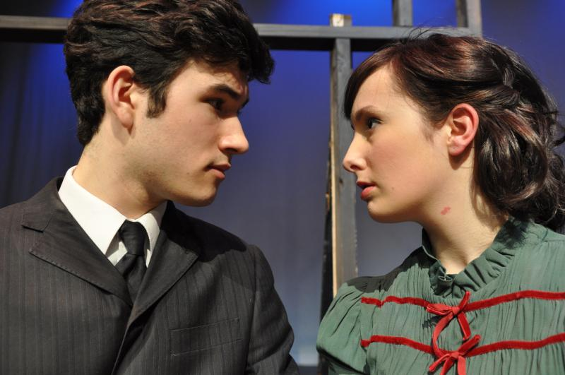 "Bryan Gula plays ""Melchior"" and Tori Gresham plays ""Wendla"" in Balagan Theatre's production of ""Spring Awakening."""