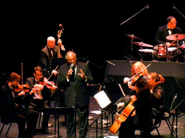 Guest vocalist Everett Greene sings with a string section and the Seattle Repertory Jazz Orchestra (Phil Sparks, bass, Clarence Acox, drums)