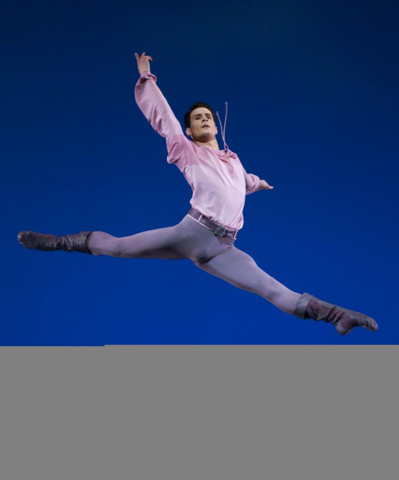 "Dancer Seth Orza in Jerome Robbins' ""Dances at a Gathering"""