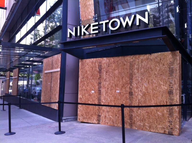 All that remained of May Day protests around Westlake Center on Wednesday were a few boarded up windows and lingering questions around why the violence had to break out when the vast majority of demonstrators were peaceful.