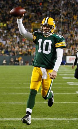 Matt Flynn scores a touchdown against Minnesota Nov. 14, 2011, in one of the two games he played for the Packers.