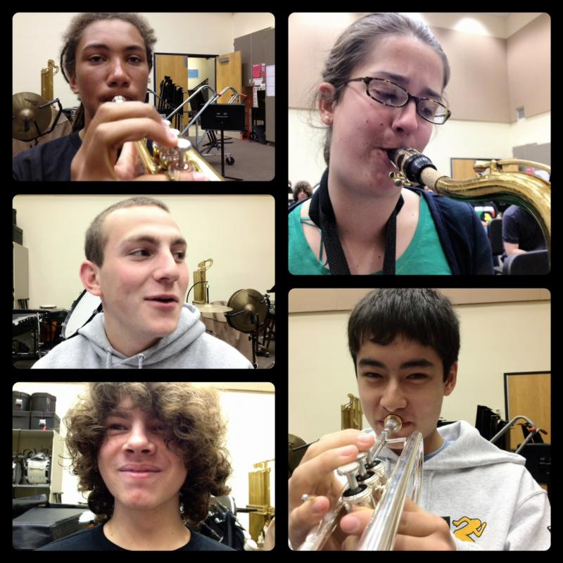 Members of the Ballard High School jazz band, which is one of 15 finalists in the Essentially Ellington High School Jazz Band competition.