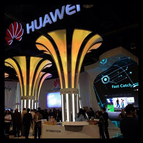 Huawei's booth at the 2012 International CES in Las Vegas