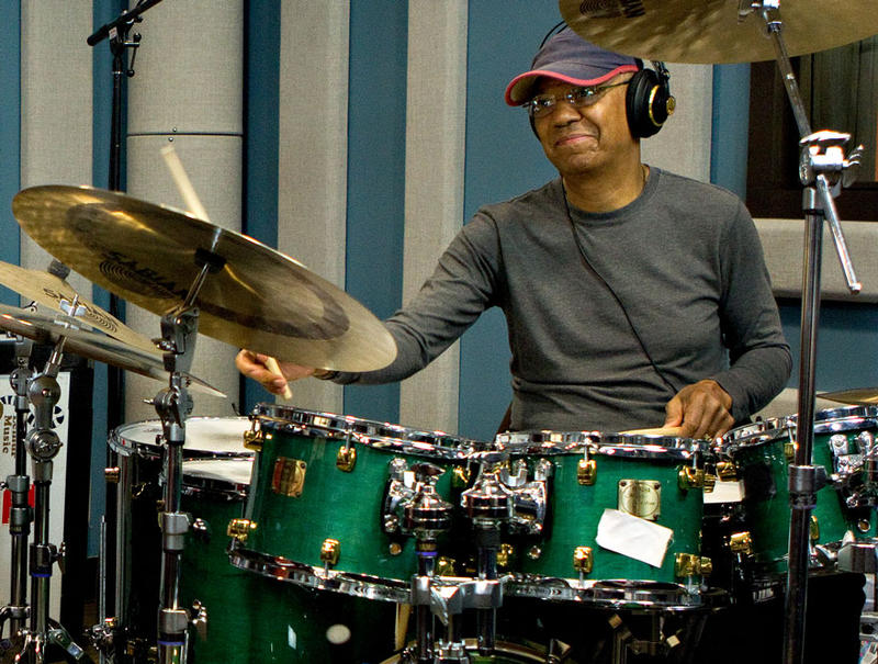 Legendary drummer Jack DeJohnette in the KPLU studios on May 11, 2012.