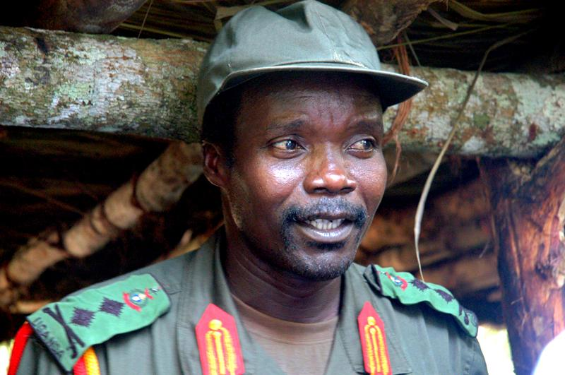 Joseph Kony, leader of the Lord's Resistance Army, meets with a delegation of 160 officials and lawmakers from northern Uganda and representatives of non-governmental organizations in Congo near the Sudan border in 2006.