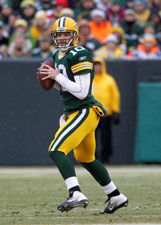 Matt Flynn in action for the Green Bay Packers on Jan. 1, 2012