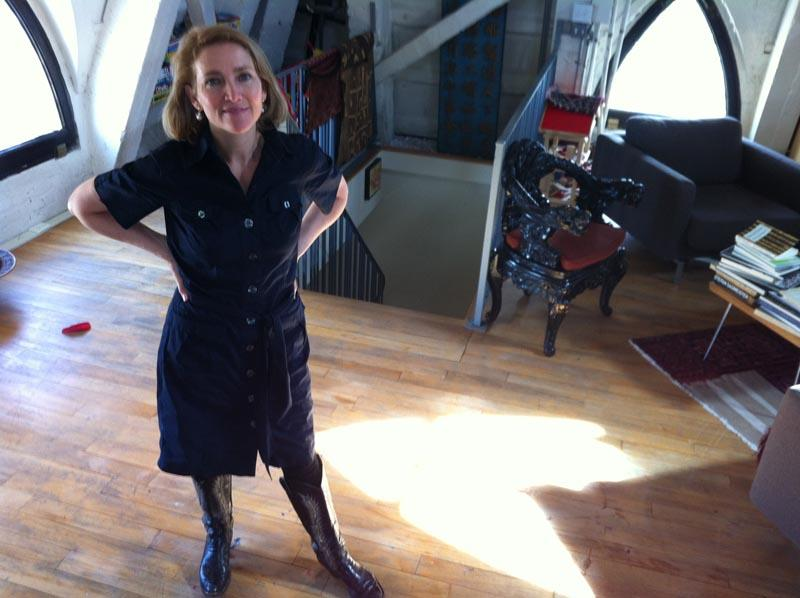 Petra Franklin, producer of Artists Toolbox in her apartment in the Smith Tower.
