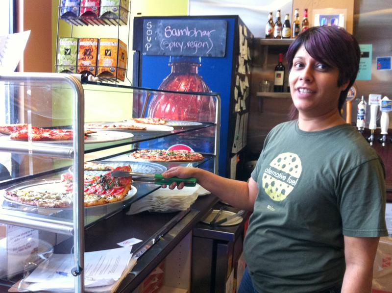 Ritu Shah-Burnham, the owner zpizza on Broadway on Capitol Hill, is concerned about the disruption to her business.