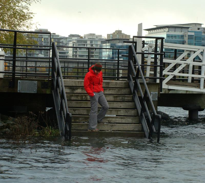 "Hey, where'd the beach go? ""King tide"" in Victoria, BC dramatizes a possible future."