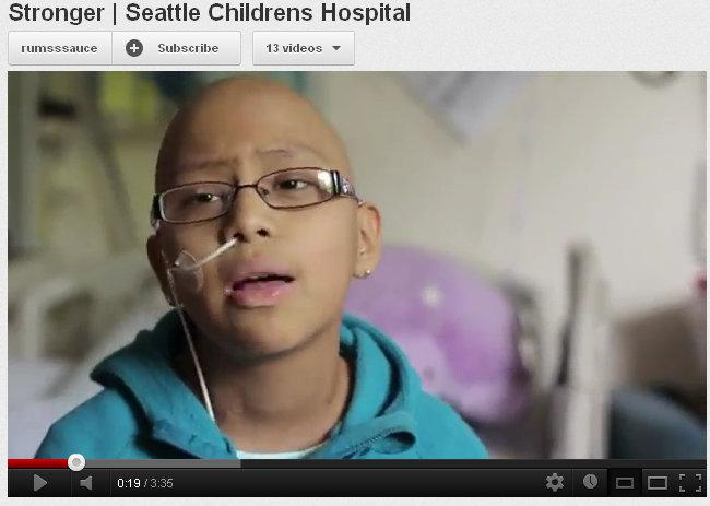 Screen grab from the video made by patients at Seattle Children's Hospital.