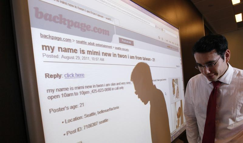 "New law is ""the first time in the nation criminalizing those who advertize minors online if they have not done the verification of age,"" said Rose Gundersen is co-founder and Executive Director at Washington Engage, a non-profit."