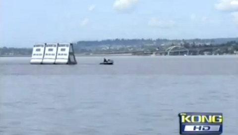 The proposed signs can be seen on Lake Washington in this screen grab from KING 5.