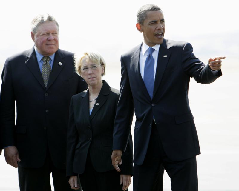 With the loss of Norm Dicks, seen here in 2010 with President Barack Obama and Sen. Patty Murray, D-Wash., Washington state lost an important power broker.