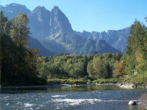The proposed site for a new dam on the South Fork of the Skykomish River