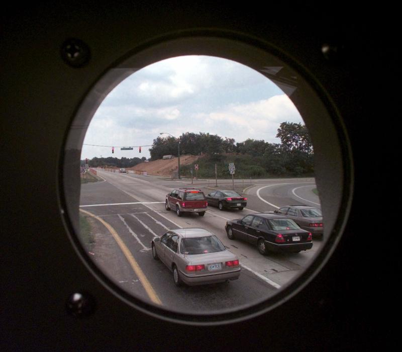 What a red light camera sees.