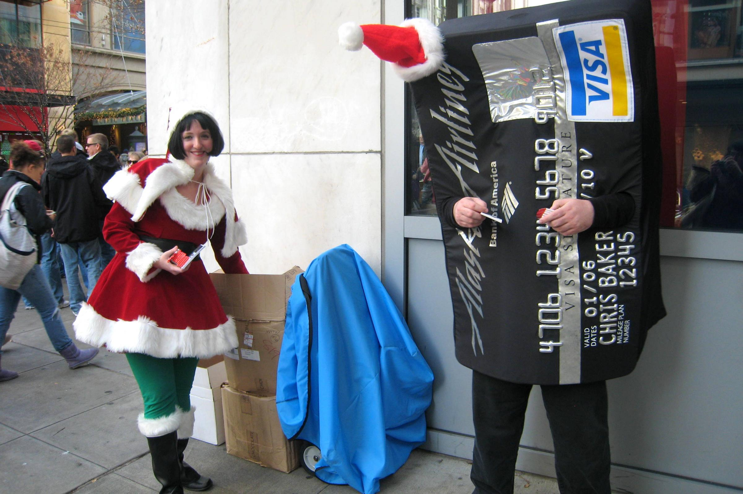a christmas credit card promotion on seattle streets on black friday in 2007 occupy seattle protesters say they want to join the festivities not disrupt - Christmas Activities In Seattle