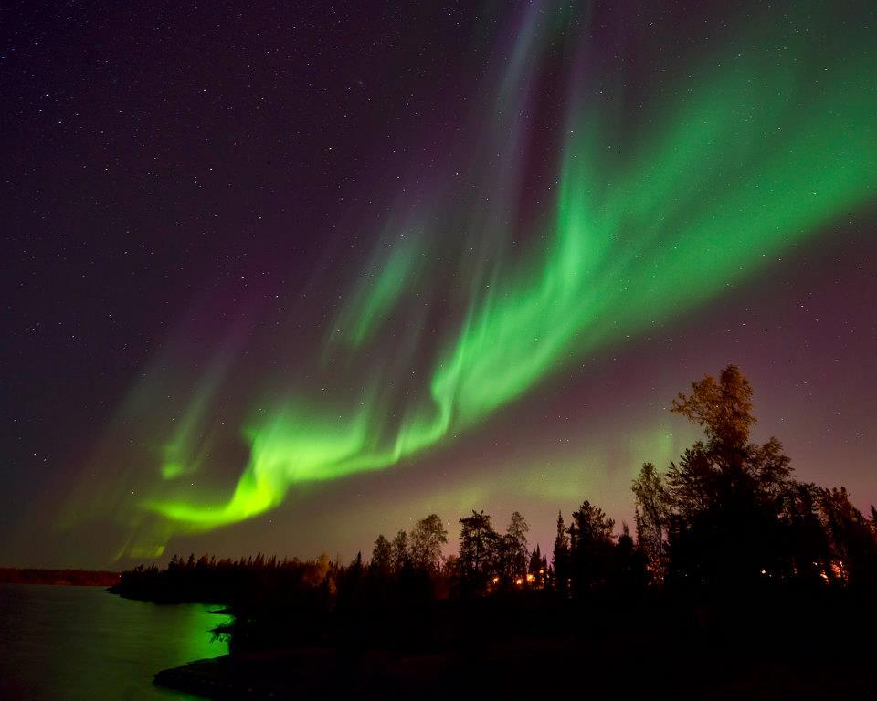 The Aurora Borealis Is Seen In Yellowknife, Canada In August 2012.