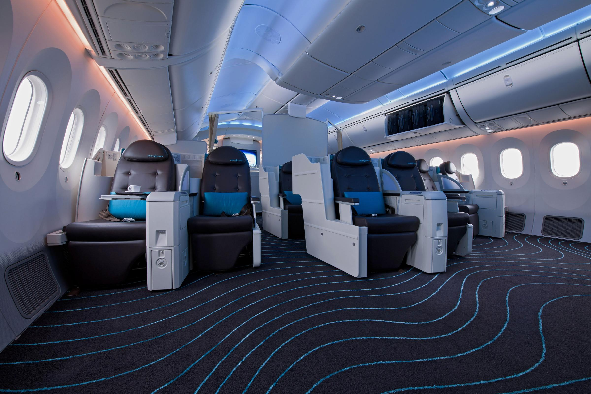 Seattle 39 s museum of flight will be the first to exhibit a for Interior 787 dreamliner