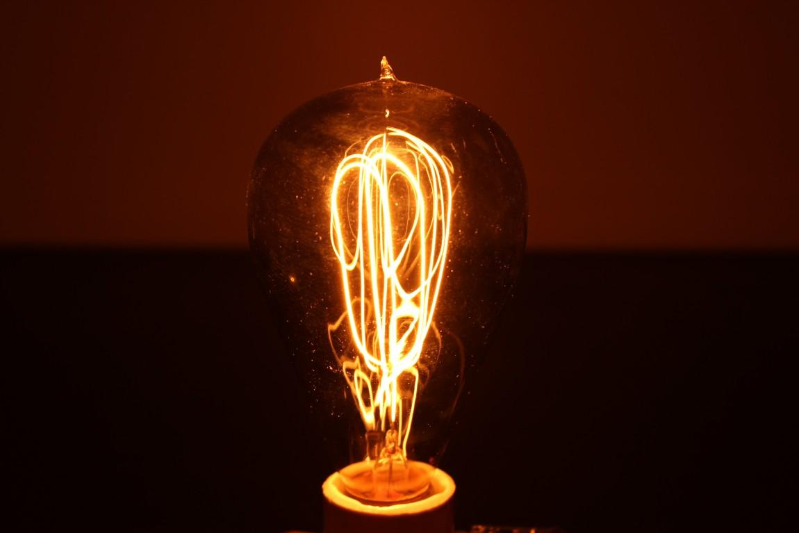 incandescent light bulb from the 20th century