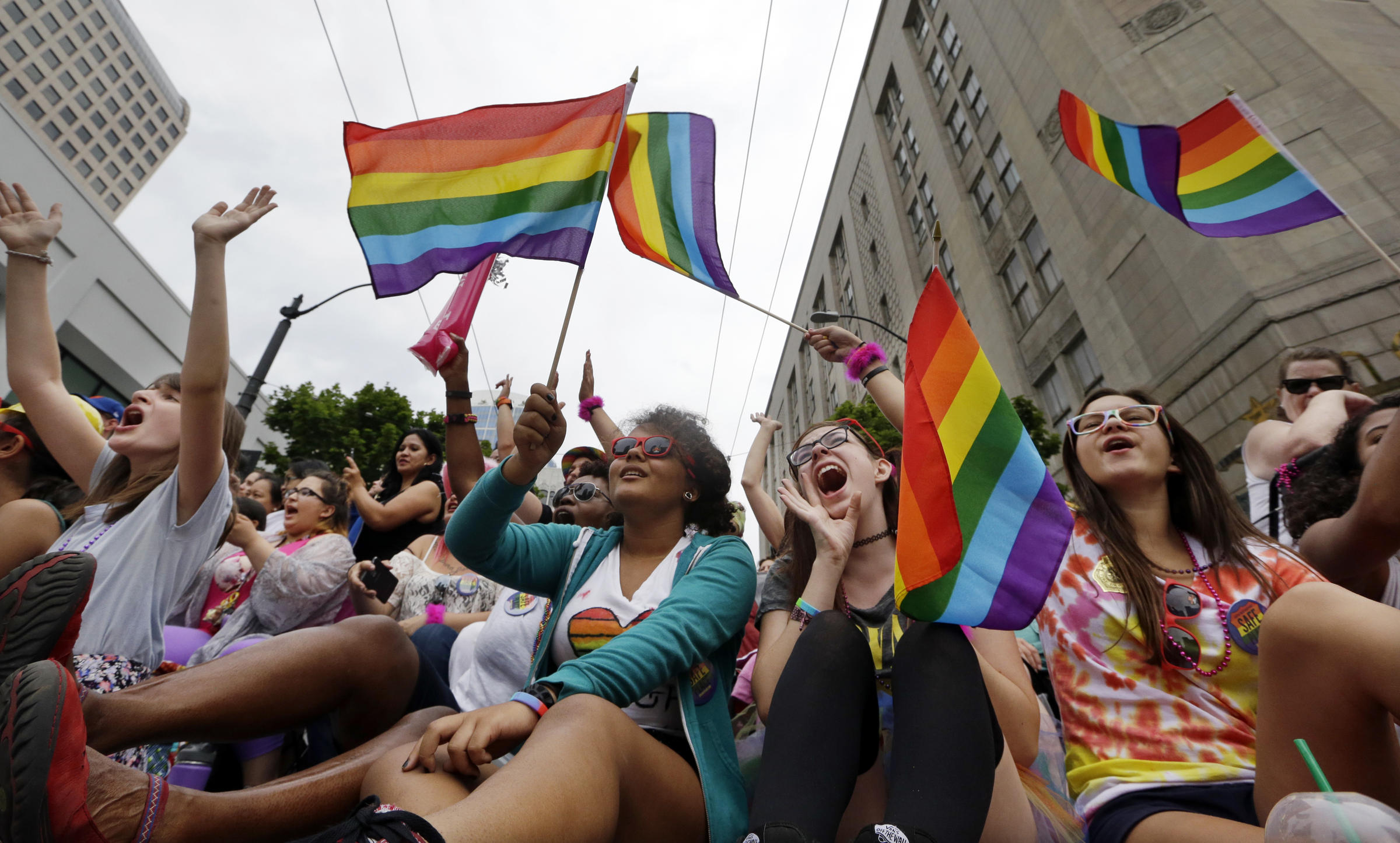 Seattle Pride: Moment of Silence, Rainbow Connection' for Start of Parade