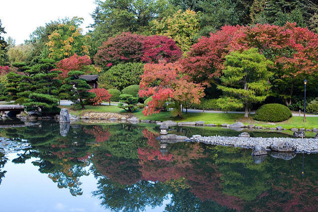 Good places to see fall colors when the weather for Japanese garden colors