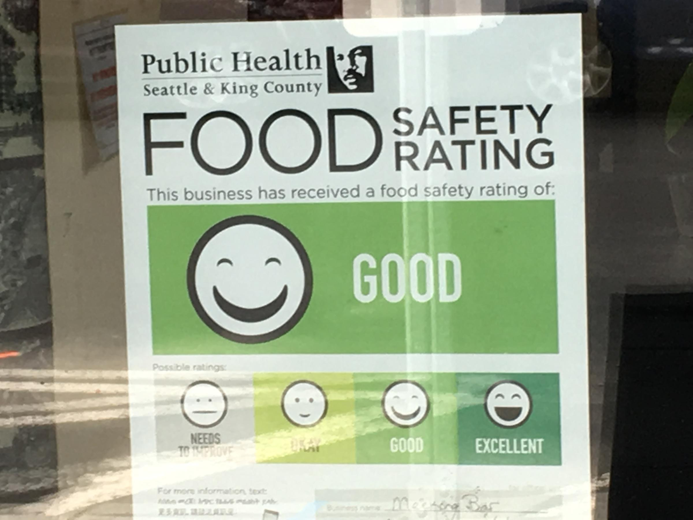 Public Health Seattle And King County S Food Safety Ratings Must Be Prominently Displayed In Restaurants