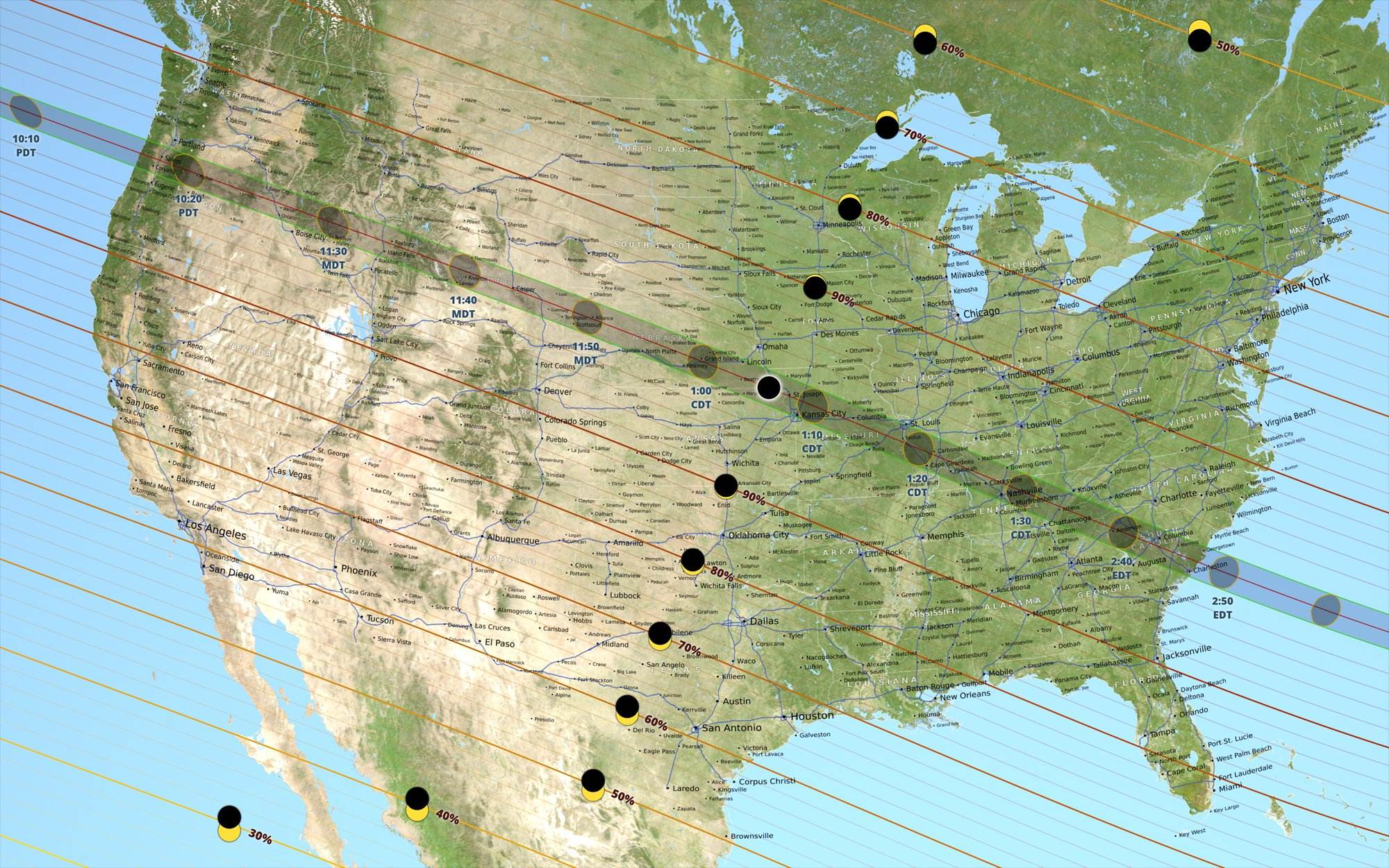 LIVE MAP: 2017 Solar Eclipse | KRCB