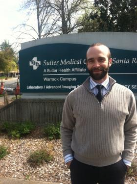 SAY Executive Director Matt Martin at the Warrack Hospital campus.