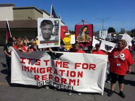 Supporters of immigration reform at a rally in Roseland last month.