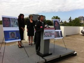 Former Republican Lt. Gov. Abel Maldonado announces a campaign to overturn Gov. Jerry Brown's prison realignment program at a Sacramento news conference Wednesday.
